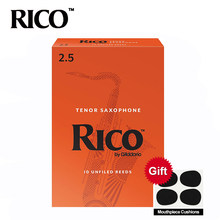Rico Derppde Tenor BB Sax Buluh Kekuatan 2.5 #, 3.0 # Orange Kotak 10(China)
