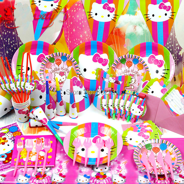 Hello Kitty Cartoon birthday party setevent decorations cup