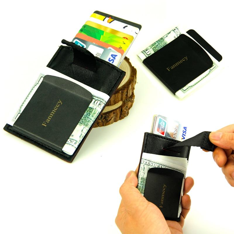 Nouveau Hommes en acier inoxydable Slim Argent de poche clip Wallet Credit ID card cash holder