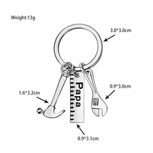 XIAOJINGLING 3 Styles Creatived Hammer Keyring Trendy Pendants Keychains Papa Dad Father Car Keyfob Father's Day Gift Key Chains