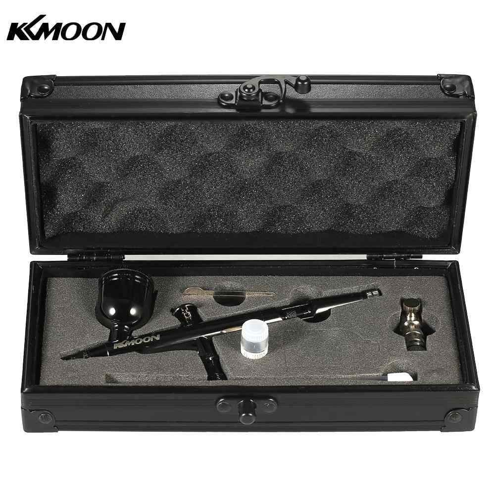 KKmoon Gravity Feed Dual-Action Airbrush Kit Set 0.3mm 8cc Trigger Spray Gun for Art Craft Paint Spraying Hobby Model Painting