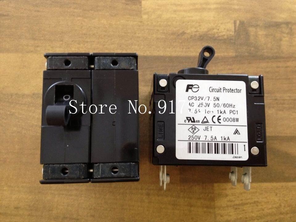 [ZOB] Fuji CP32V/7.5N single handle equipment circuit breaker CP32-1S7P5N2 250V7.5A genuine original  --5pcs/lot[ZOB] Fuji CP32V/7.5N single handle equipment circuit breaker CP32-1S7P5N2 250V7.5A genuine original  --5pcs/lot