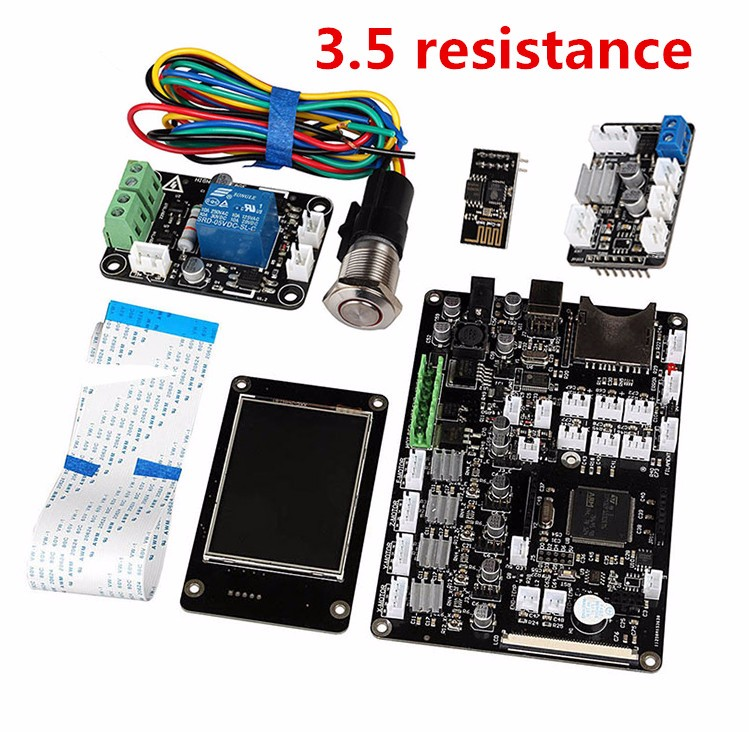 Fast Free Ship 3d printer motherboard suite Red rabbit control board 3.5 inch screen Double thermal resistance power off WIFI flsun 3d printer big pulley kossel 3d printer with one roll filament sd card fast shipping