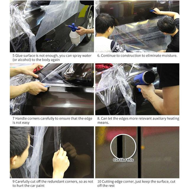 Hot! Cars 3 Layers PPF Paint Protection Film for Car Wrapping Transparent Auto Vehicle Coating sticker SIZE:50*200CM/Roll