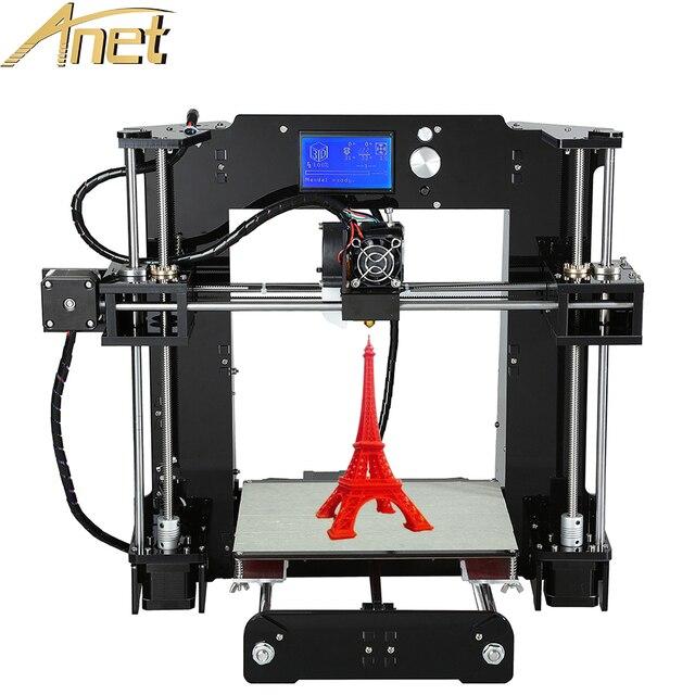 Личная 3d принтер машина Анет A6/A8/Автоматическое выравнивание A8 3d комплект принтера diy Reprap Prusa Промышленных i3 с Бесплатными Нитей LCD