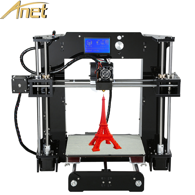 Personal 3d printer machine Anet A6/A8/Auto leveling A8 3d printer kit diy Reprap Prusa Industrial i3 With Free Filaments LCD