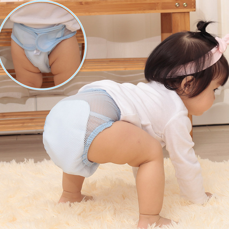 Baby Summer Nappies Mesh Breathable Pants Comfortable Washable Reuseable Infant Diaper AN88 Брюки