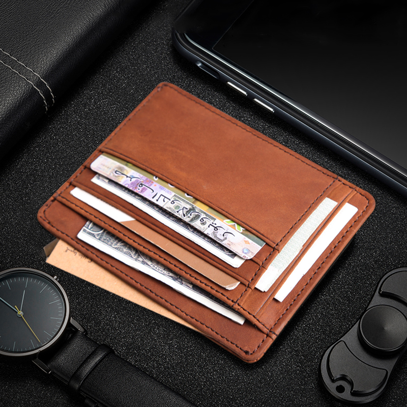 Cobbler Legend Thin Genuine Leather Card Wallet Men's Wallets