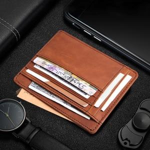 Image 2 - Cobbler Legend Thin Genuine Leather Card Wallet Men Bank Purse New Coin Bag Mini Wallet Id Holder Women Travel Pocket Wallet