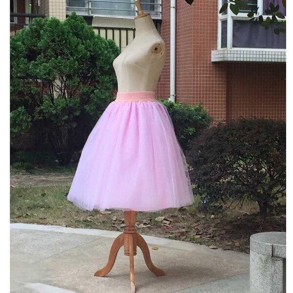Тюлевая юбка принцессы, пышная Женская Лолита, белая сетчатая юбка, балетная юбка для девочки, 5XL размера плюс, черная одежда для рождественской вечеринки, танцевальная одежда - Цвет: Розовый