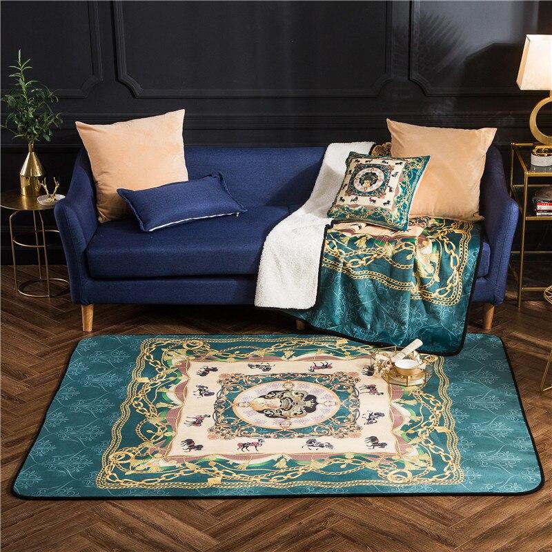Chaud moderne mode Fale velours tapis grande taille haute qualité maison Rectangle tapis salon tapis épaissir salon tapis Art décor