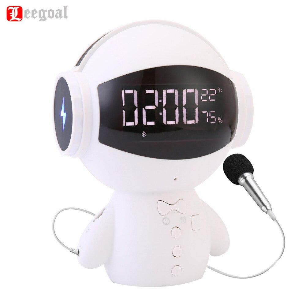 Leegoal Mini-Robot Intelligent Bluetooth BT haut-parleur Intelligent-robot mignon Portable bt-haut-parleur soutien appel téléphonique TF AUX batterie externe