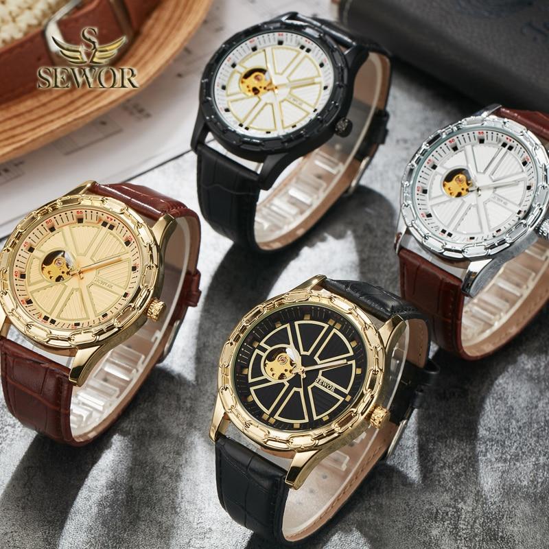 SEWOR 2019 Luksusowa Marka Moda Chalet Joke Kształt Mężczyzna - Męskie zegarki - Zdjęcie 4