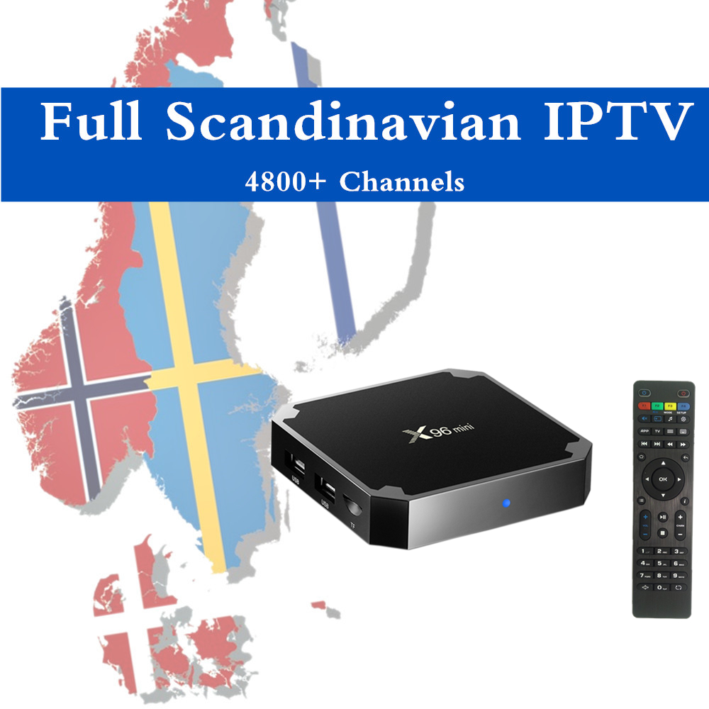 X96MINI Android Nordic IPTV Box 4K Pro HD World 5000 Scandinavia Norway Denmark Finland Swedish Iceland