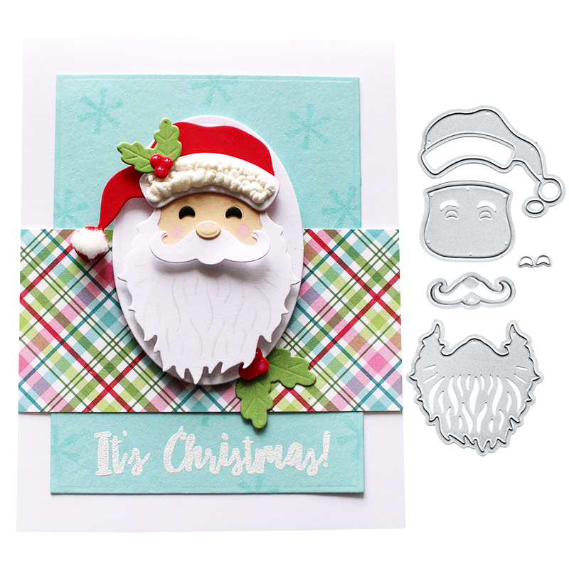 Crafts 4 Types Santa Claus Frame Metal Cutting Dies Stencil Scrapbooking