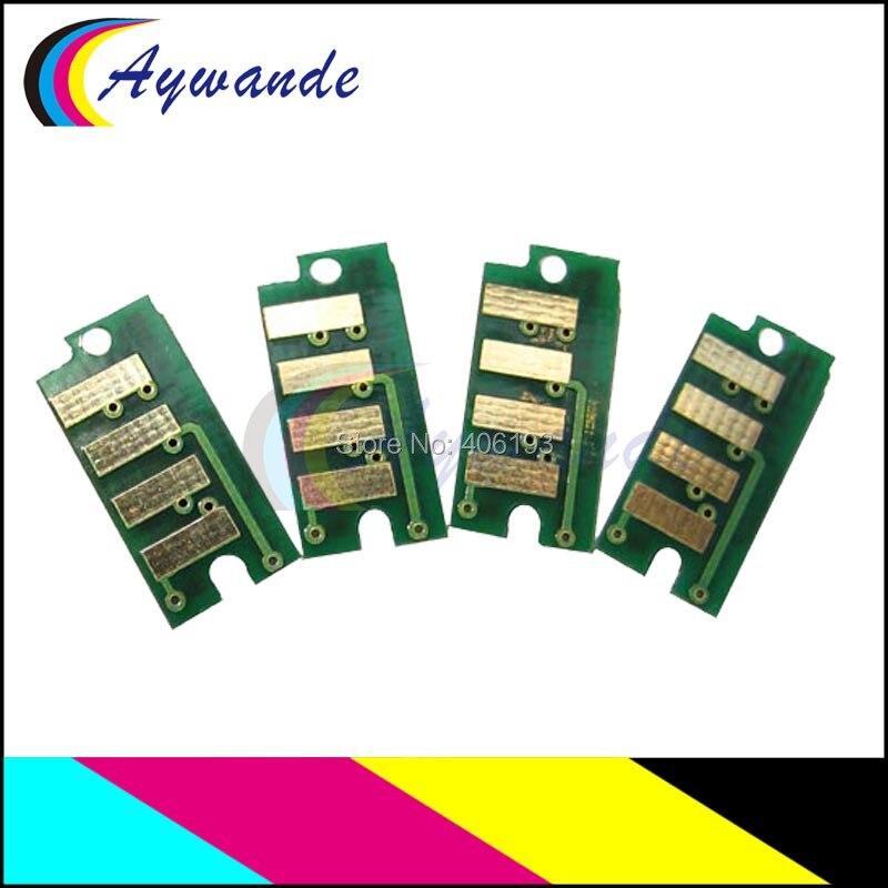100% QualitäT 4x Toner Patrone Reset Chip Für Epson C1700 1700 C1750 1750 Cx17 Für S050614 S050613 S050612 S050611 Attraktiv Und Langlebig