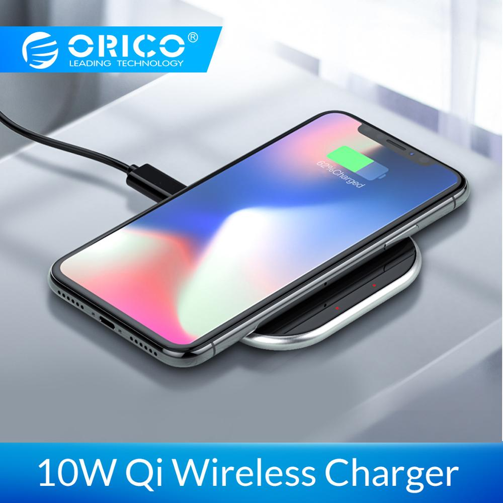 ORICO 10W Qi Wireless Charger for iPhone X 8 XS USB 5V 9V Wireless Charging for Samsung Galaxy S8 S9 S7 Qi USB Wireless Charger(China)