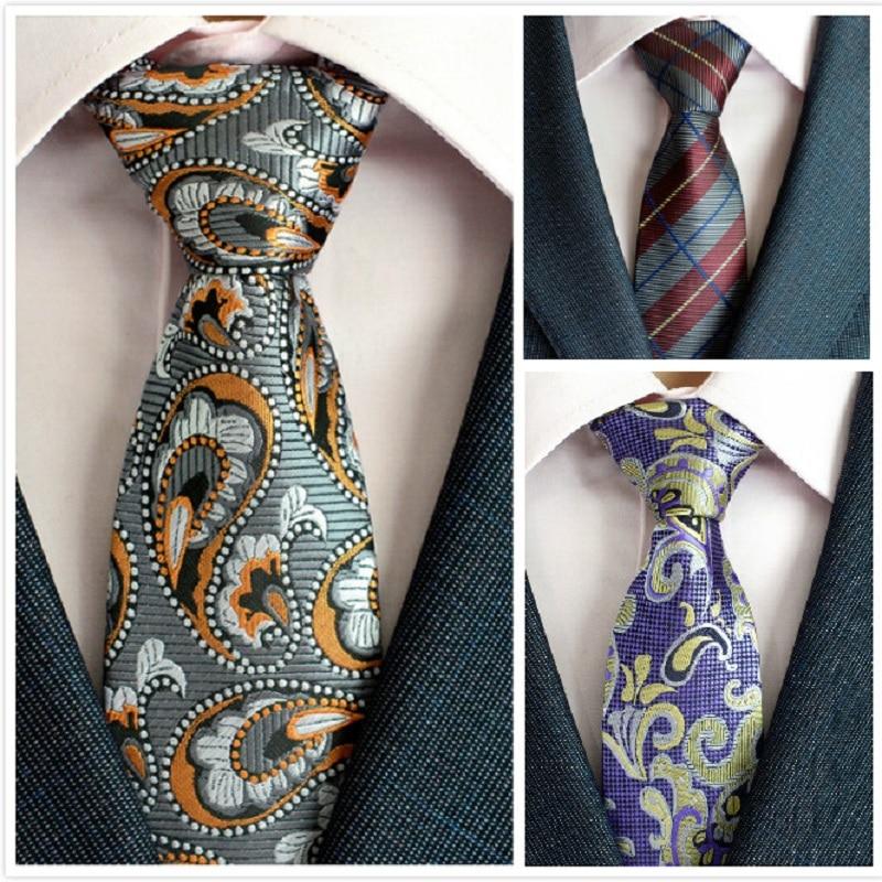 Klasična muška svilena kravata za vrata od 8 cm, vezanje paisley i - Pribor za odjeću