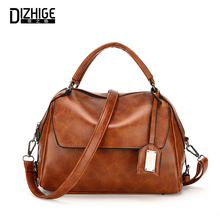 DIZHIGE Brand Vintage Women Leather Handbags Luxury Tote Bags High Quality Shoulder Bag Ladies Designer Sac Femme 2017 New