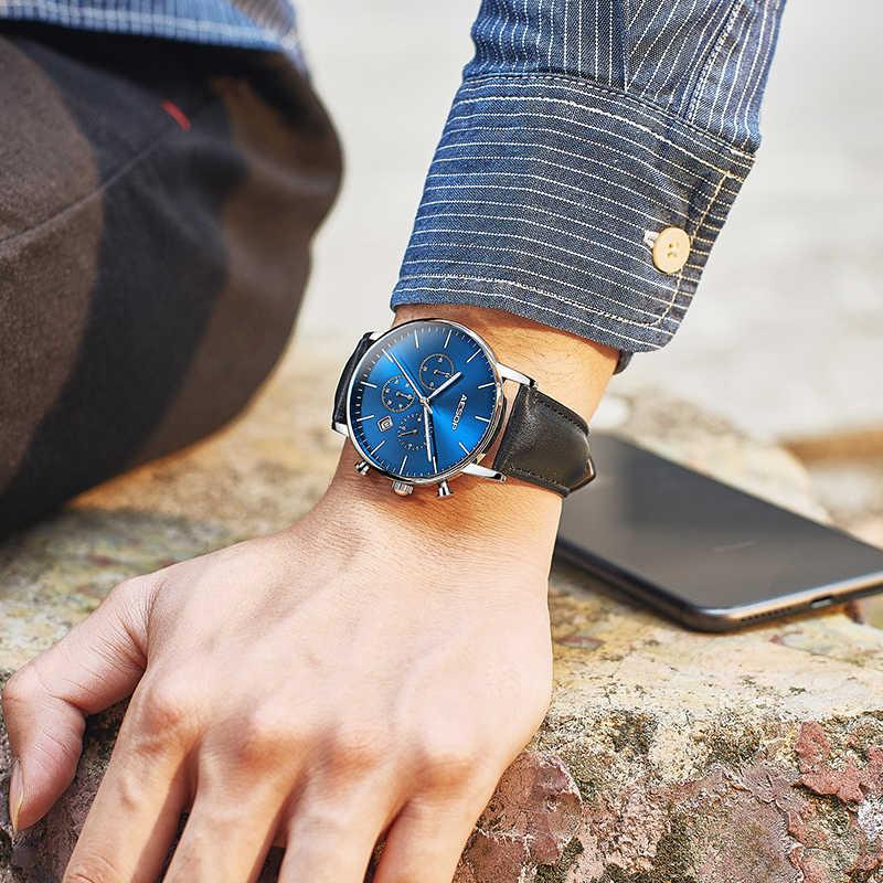 イソップメンズ腕時計クォーツ腕時計ストラップ男性時計防水ビジネス多機能男スポーツレザー 2019 高級ブランド