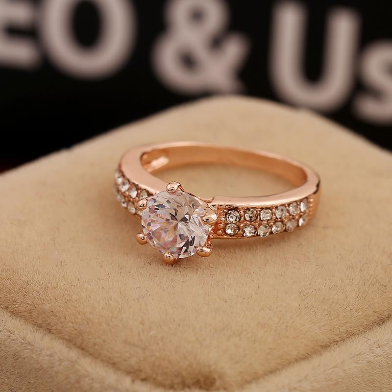 2015 New Design White Zircon Engagement Rings for Women Girls ...