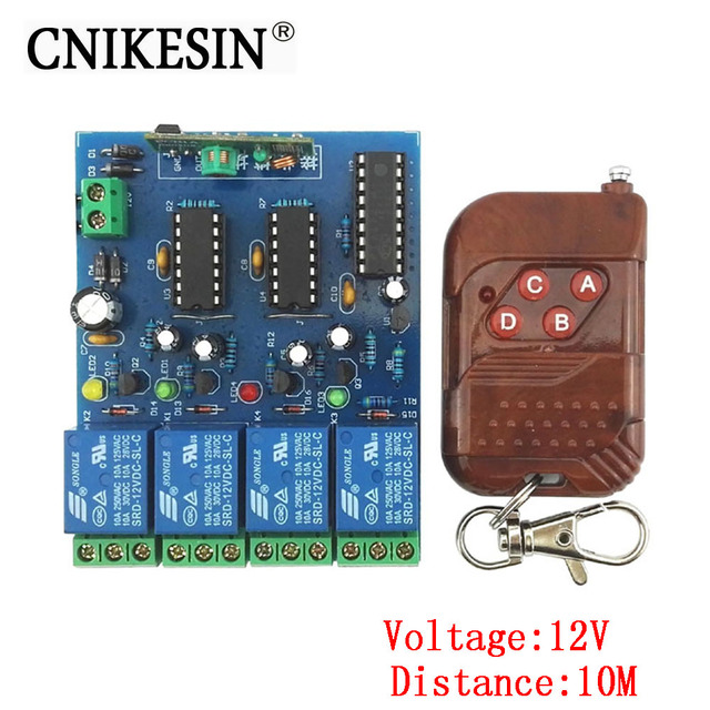 Cnikesin diy kit four wireless remote control switch suite 12v diy cnikesin diy kit four wireless remote control switch suite 12v diy electronics do it yourself kit solutioingenieria Images