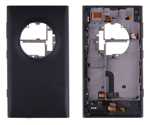 With Sim Card Tray Original New Rear Back Battery Door with Charging Port For Nokia Lumia 1020 N1020 Housing With Side Buttons