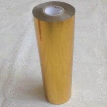 21 см x 120 м/рулон Золото горячее тиснение фольга бумажный ламинатор ламинирование трансфера на элегантность лазерный принтер крафт бумага