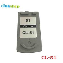For Canon cl-51 Ink Cartridge For Canon PIXMA MP150 MP160 MP170 MP180 MP450 MP460 MX300 MX310 iP2200 iP6210D for canon cl 51 цена