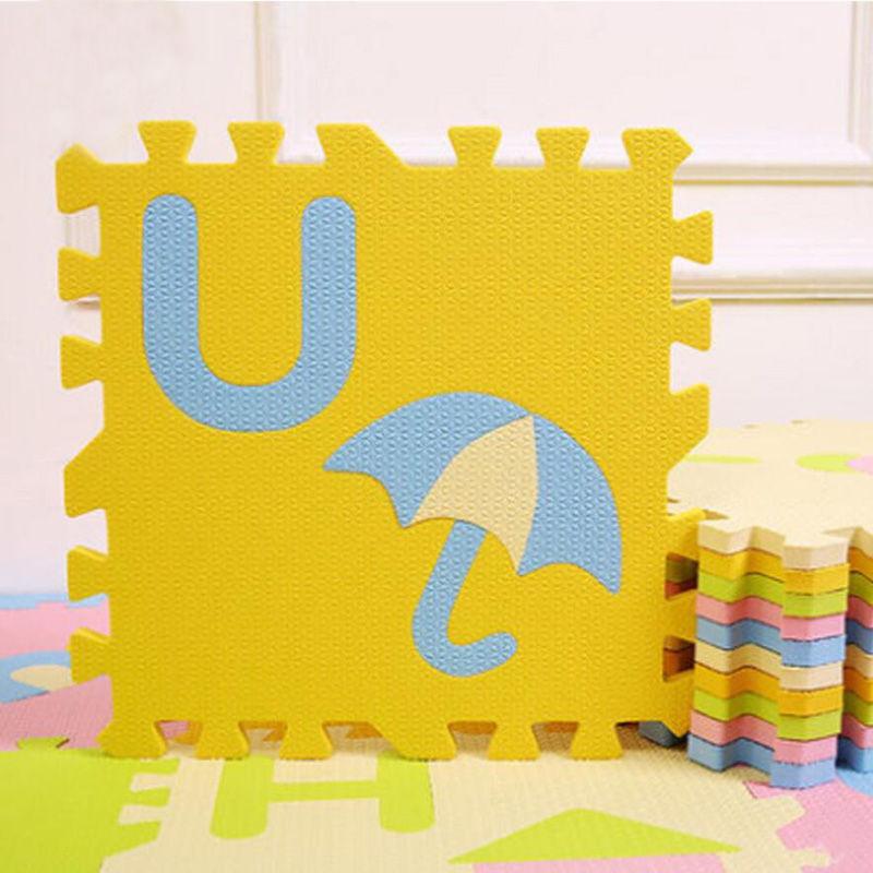 1.4cm Thick Cartoon Puzzle Play Mat, 28pcs/lot Baby Crawling Rug Climb Pad Children Carpet EVA Foam Kids Game Soft Floor Toy 450 dayan gem vi cube speed puzzle magic cubes educational game toys gift for children kids grownups