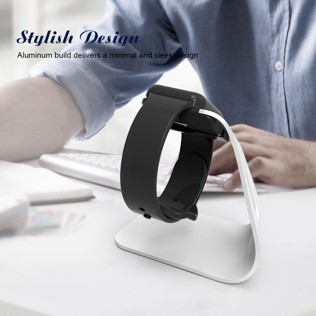 FLOVEME Metal Aluminum Charger Stand Holder for Apple Watch Bracket Charging Cradle Stand for Apple i Watch Charger Dock Station 4
