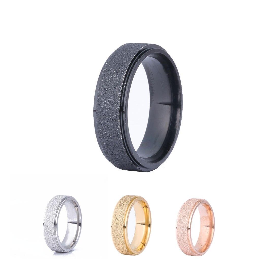 Männer Ringe Frauen Titan Stahl Ring Matte Paar Ringe Engagement Finger Ring Größe 7-10 Für Party