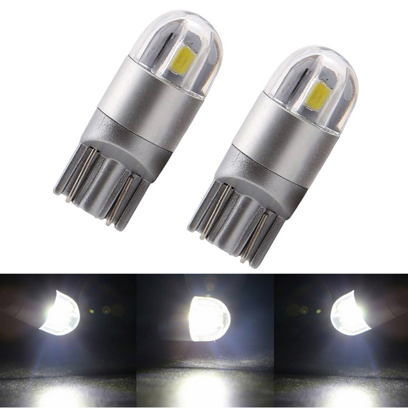 2x LED T10 W5W 168 194 Car Lamps SMD 3030 Turn Signal License Plate Light Trunk Lamp Clearance Lights Reading Wedge Parking Bulb 2x t10 w5w 168 194 smd 6 led 5050 remote control rgb car reading wedge lights for car tail light side parking door lighting