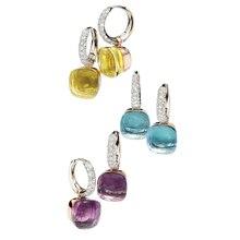 Классические серьги в виде капель воды, 23 цвета, 3 золотых цвета, серьги-капли для женщин, модные ювелирные изделия в подарок(DJ1159