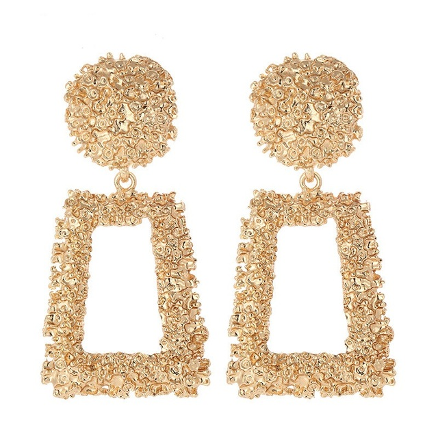 2019 Vintage Statement Big Geometric Drop Earrings Morden Alloy Hanging Dangle Earrings For Women Fashion Jewelry Accessories