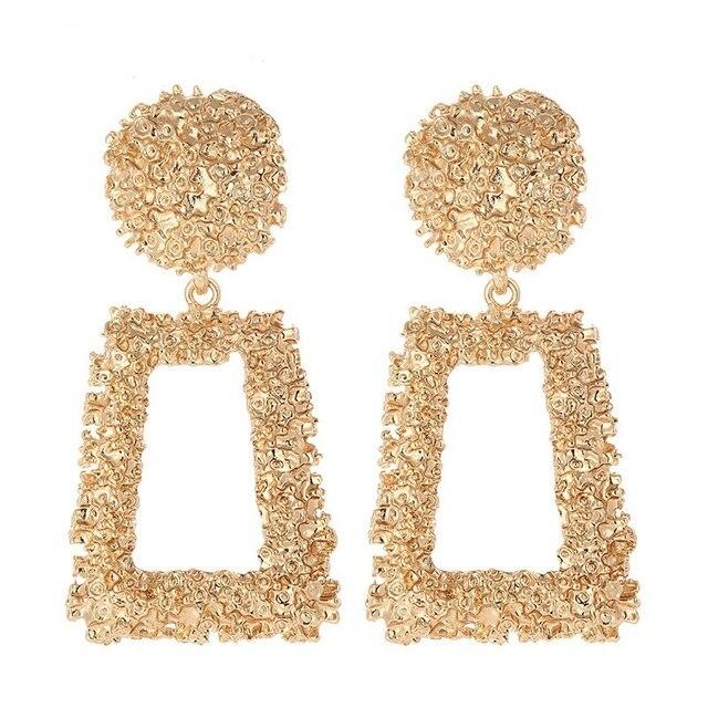 3b6288abd 2019 new fashion Ethnic Vintage Long Tassel Dangle Earrings Luxury Maxi big  Alloy geometry drop Earrings