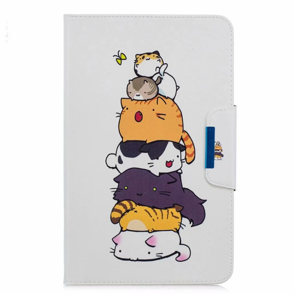 Case For Samsung Galaxy Tab A 8.0 T387 SM-T387 2018 8.0 Inch Ultra Slim Fashion Funda Tablet PU T387 Stand Case Cover +Pen