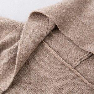 Image 4 - ארוך קרדיגן נשים סוודר חורף 2020 חדש מזדמן סתיו ארוך שרוול סרוג קימונו קרדיגן עם ברדס נשי גדול מעיל מעיל