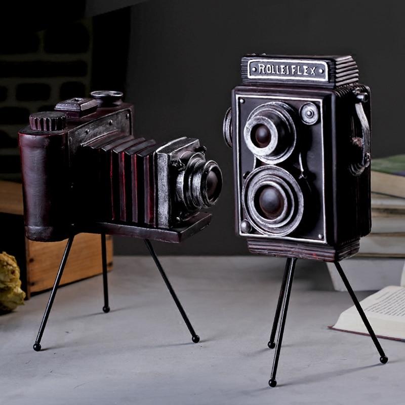Vintage Retro Tripod Camera Model Decoration Crafts Shop Window Ornaments Photography Props Vintage Gift Home Decor