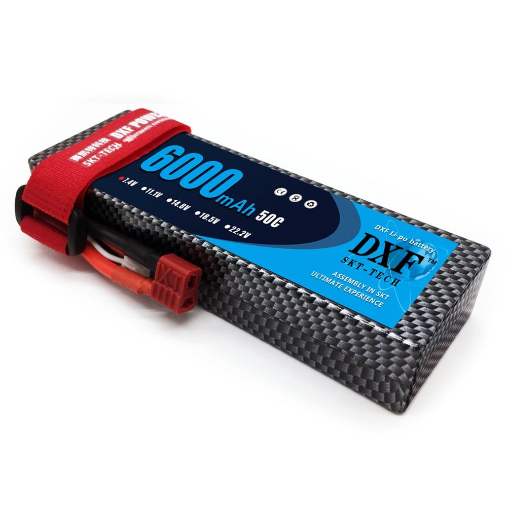 DXF 7.4V 6000mAh 50C Max 100C LiPo Batería Pack 2S HardCase para 1/8 - Juguetes con control remoto