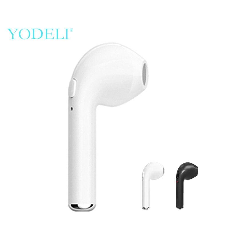 Мини беспроводные наушники i7 Bluetooth наушники истинные беспроводные наушники Спорт Громкая связь Bluetooth гарнитура с микрофоном для телефона xiaomi