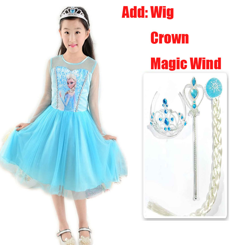 Tiange Baby Girls Elsa Dress Costumes Kids Cosplay Wedding Party Dresses Princess Anna Vestidos Infants For Baby Children Cloth медведь silver ca ca 110 ач о п