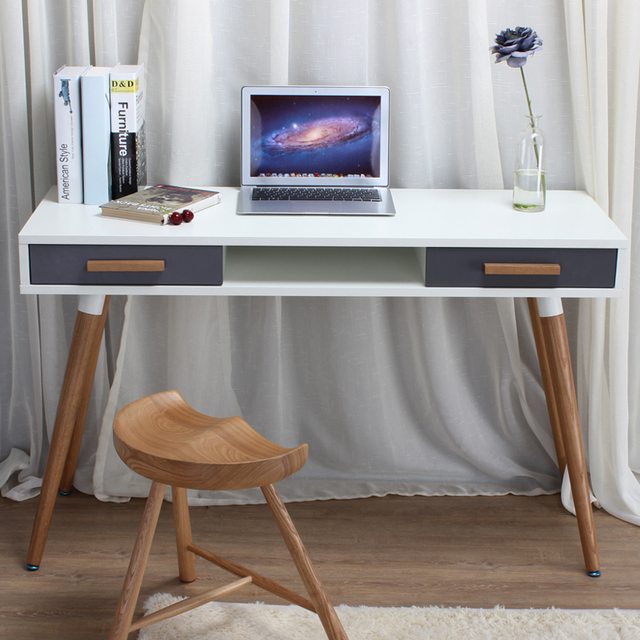 Klein Ikea Bureau.Noorden Ouyi James Creatief Bureau Moderne Minimalistische Wit Klein