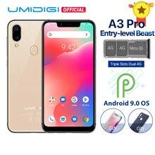 """UMIDIGI A3 Pro Android 9,0 глобальные диапазоны 5,"""" 19:9 полноэкранный смартфон, 3 Гб оперативной памяти, Оперативная память MT6739 Quad core 12MP+ 5MP Dual core 4G 3 слота 3300 МА-ч"""