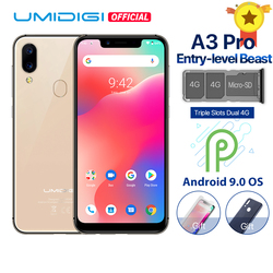 UMIDIGI A3 Pro Android Global de 9.0 Bandas 5.7