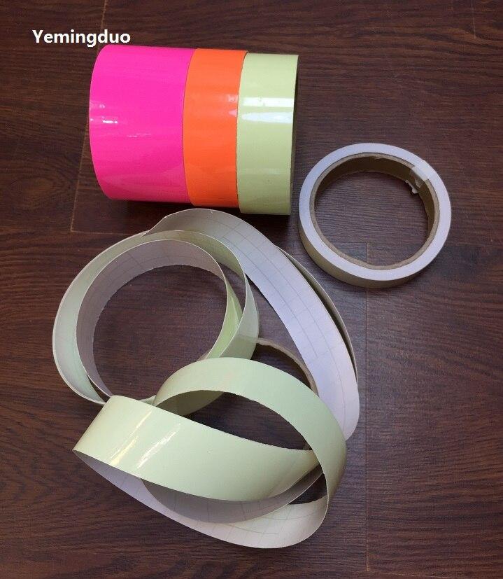 1cm*1M Luminous Tape Self-adhesive Stage Striking Warning Safety Tapes