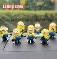 Гадкий я авто украшения, маленькие желтые люди творческий автомобиля украшения автомобиля куклы модель сочетание