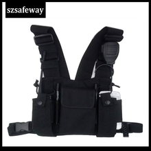 Bag-Holder Radio-Pouch Baofeng uv-5r Chest-Pack Carry-Harness Walkie-Talkie Motorola Cp040
