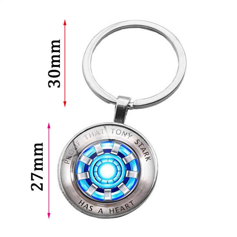 Marvel Os Vingadores Homem de ferro Tony Stark Keychain 4 Endgame Reino Quântico Série Titular do Anel Chave Do Carro Chaveiro Porte clef 2019