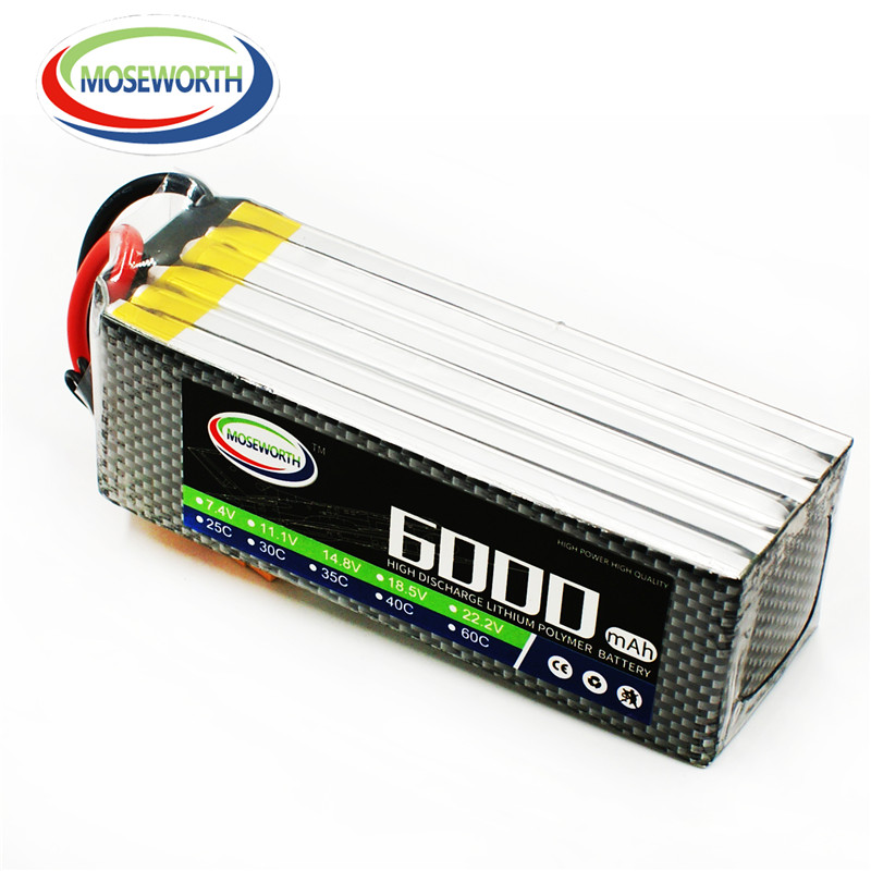 5S 18.5V 6000mAh 60C Lipo Battery For RC Airplane Helicopter Drone Quadcopter Car Boat Remote Control Toys Lithium ion Battery battery lipo 6s 22 2v 3300mah 60c for rc quadcopter helicopter drone boat car airplane model remote control toys lipo battery